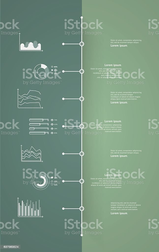 Timeline vector infographic. World map vector art illustration