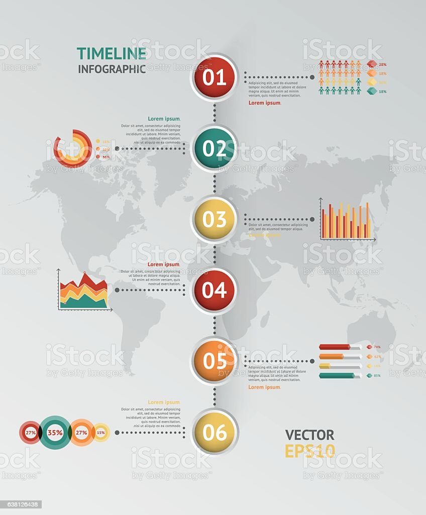 Timeline vector infographic world map stock vector art more images timeline vector infographic world map royalty free timeline vector infographic world map stock vector gumiabroncs Images