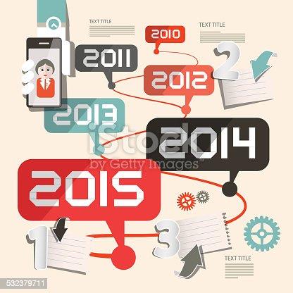 istock Timeline Vector Infographics Template 532379711
