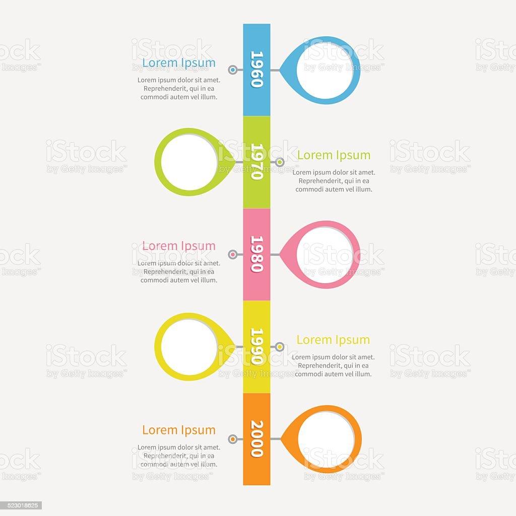 Chronologie Infographie Avec Placemarks Verticale Et Du