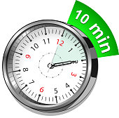 Vector illustration - timer 10 minutes. See also: