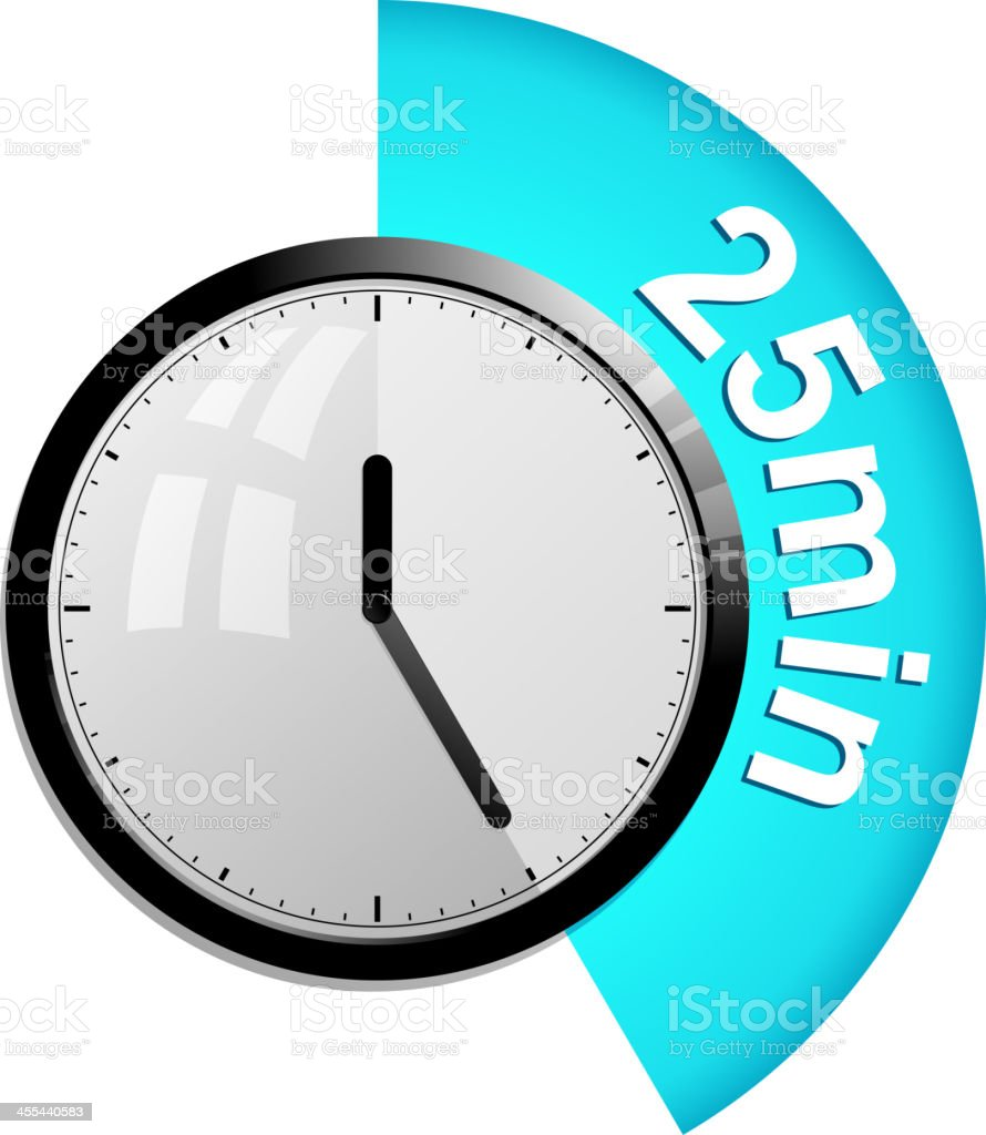 timer 25 minutes royalty-free timer 25 minutes stock vector art & more images of alarm clock
