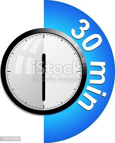 timer 30 minutes stock vector art more images of alarm. Black Bedroom Furniture Sets. Home Design Ideas