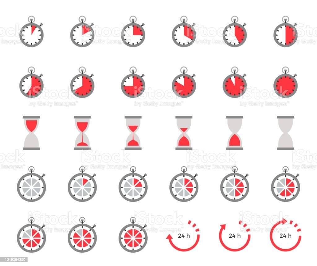 Ilustración de Temporizador Y La Arena Del Reloj De Icono ...