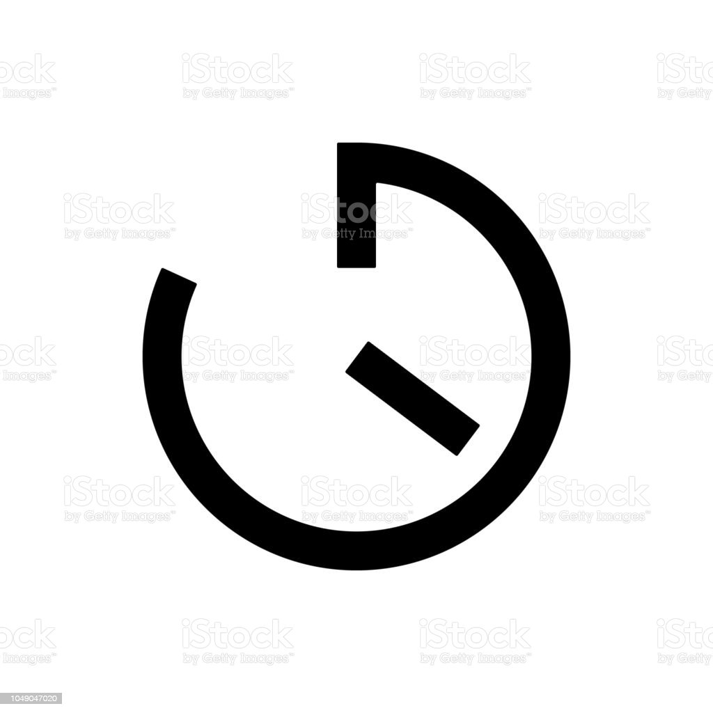 timer clock icon element of web icon for mobile concept and web apps