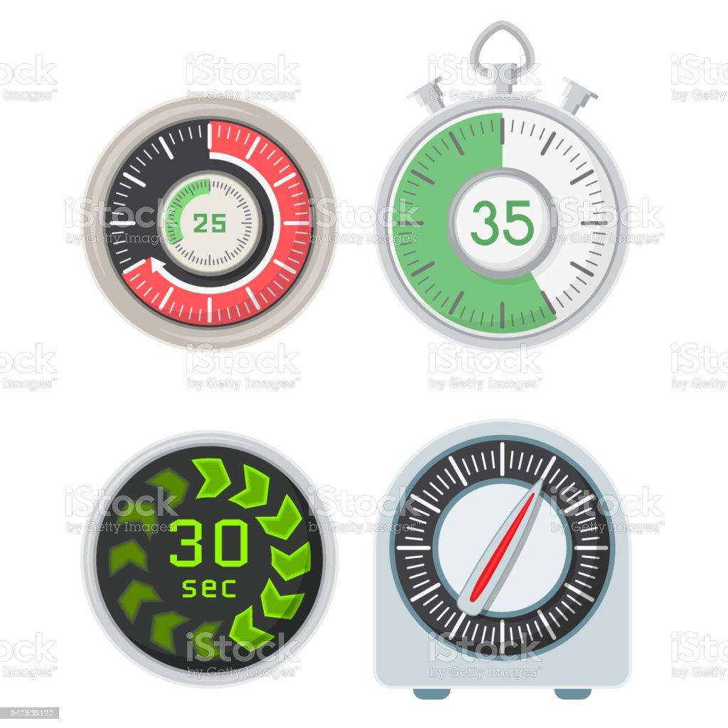 timer clocks vector watch stopwatch countdown symbol hour