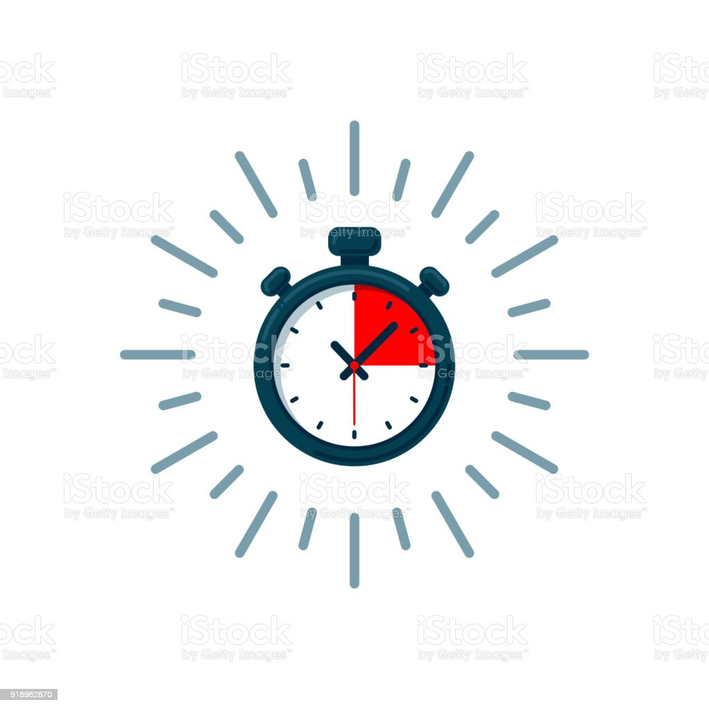 Timer icon. Fast time. Fast delivery, express and urgent shipping, services, stop watch speed concept, deadline, delay. chronometer sign vector art illustration