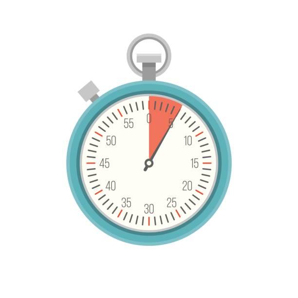 Timer icon vector, flat design – artystyczna grafika wektorowa