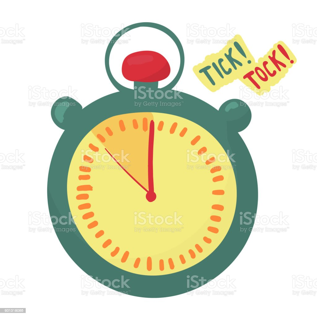 Timer Indicates The Time Is Running Out Last Minute Arrows Make Tick Tock