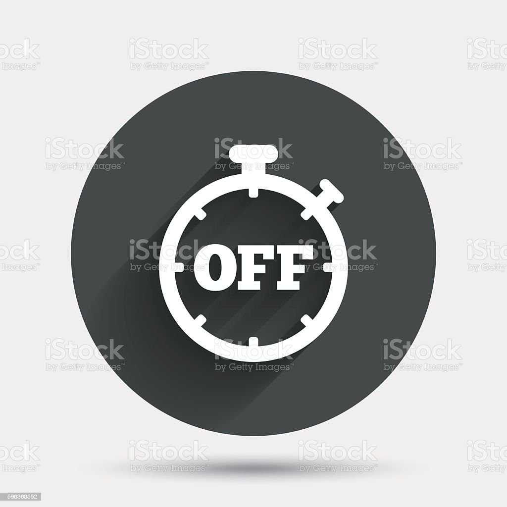 Timer off sign icon. Stopwatch symbol. royalty-free timer off sign icon stopwatch symbol stock vector art & more images of badge