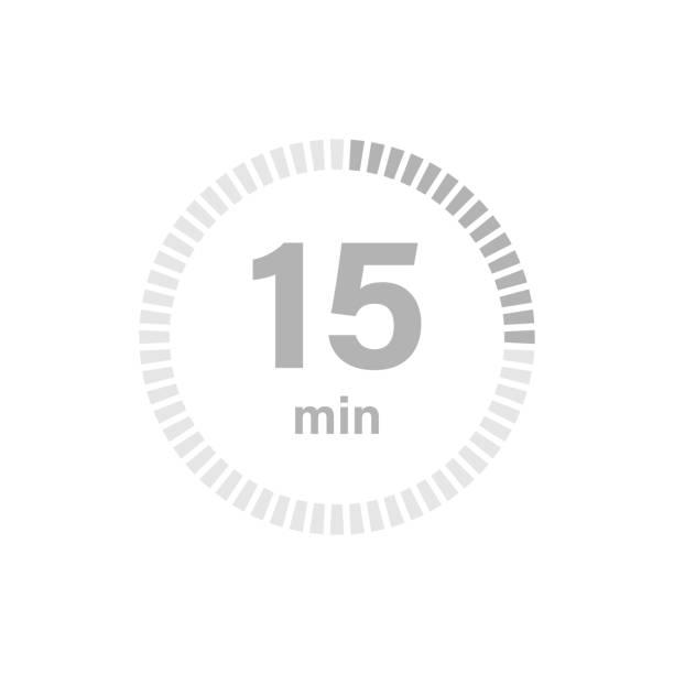 illustrations, cliparts, dessins animés et icônes de signe de minuterie 15 min - minuteur