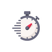istock Timer, Time, Clock Flat Icon. Pixel Perfect. For Mobile and Web. 1151601853