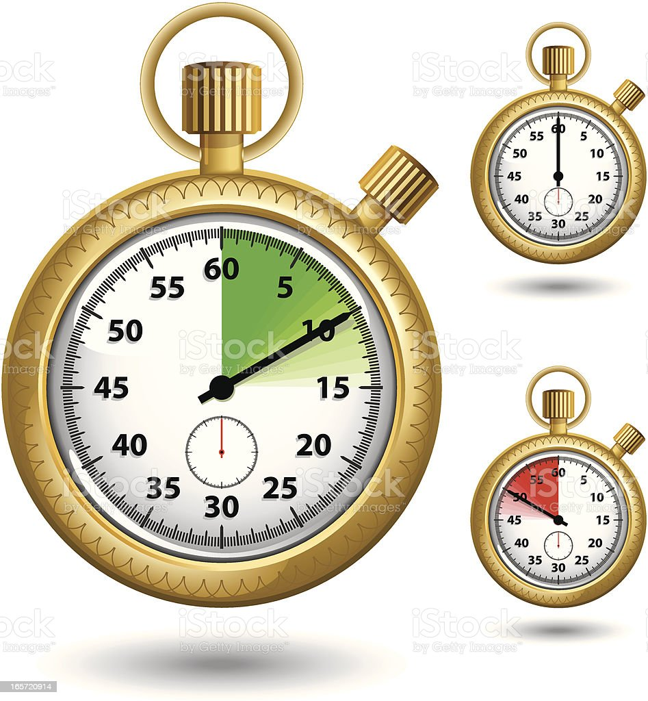 Timer (Gold) royalty-free stock vector art
