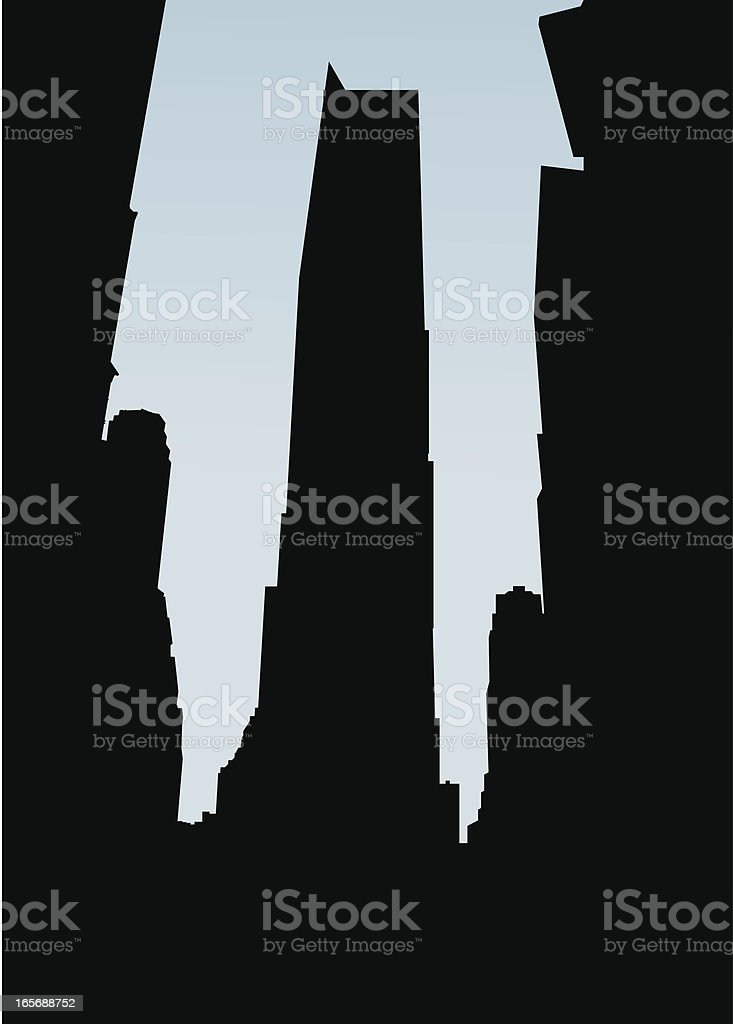 Times Square Silhouette royalty-free stock vector art
