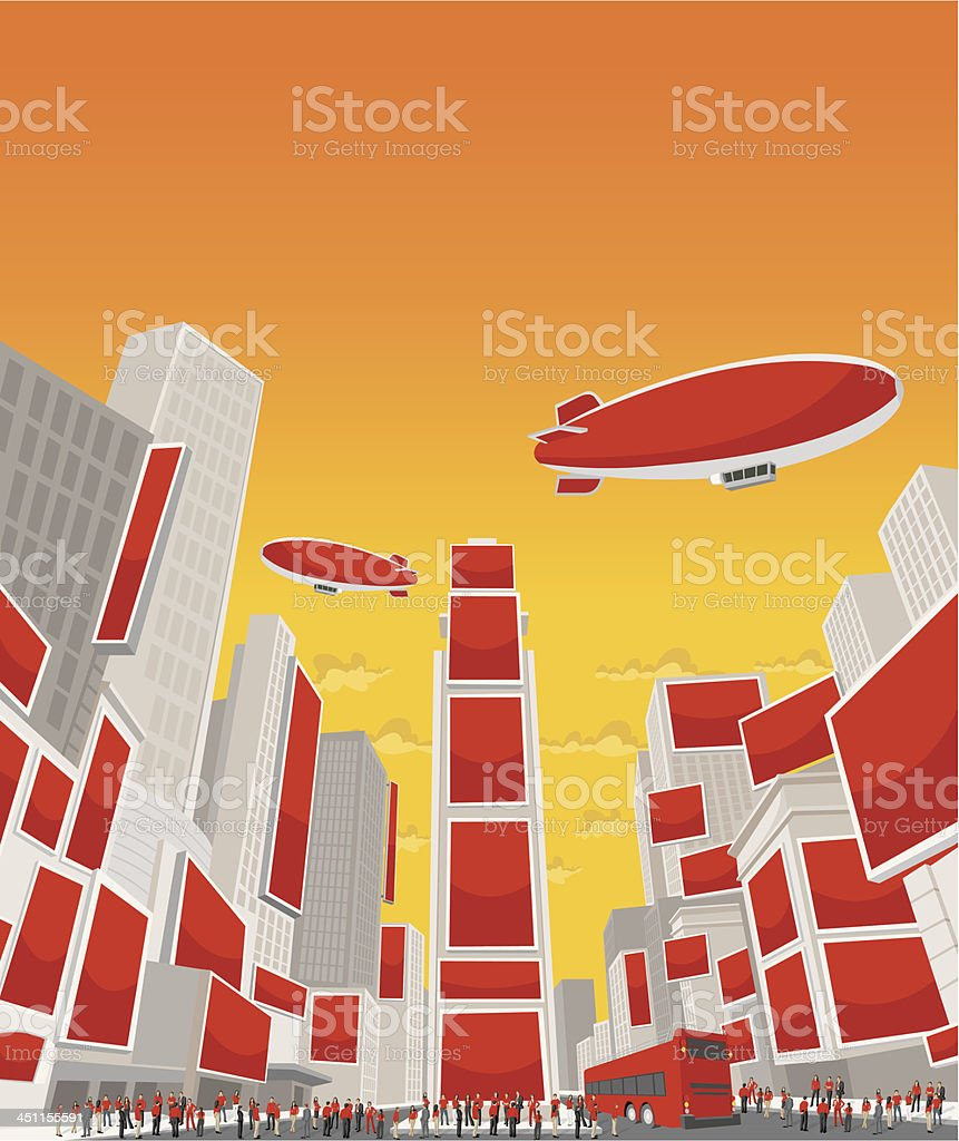 Times Square royalty-free stock vector art
