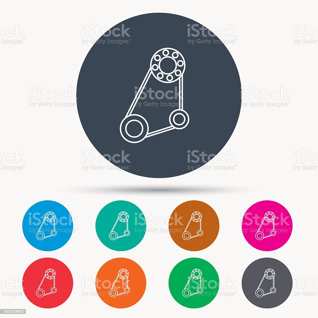 Timing belt icon. Generator strap sign. vector art illustration