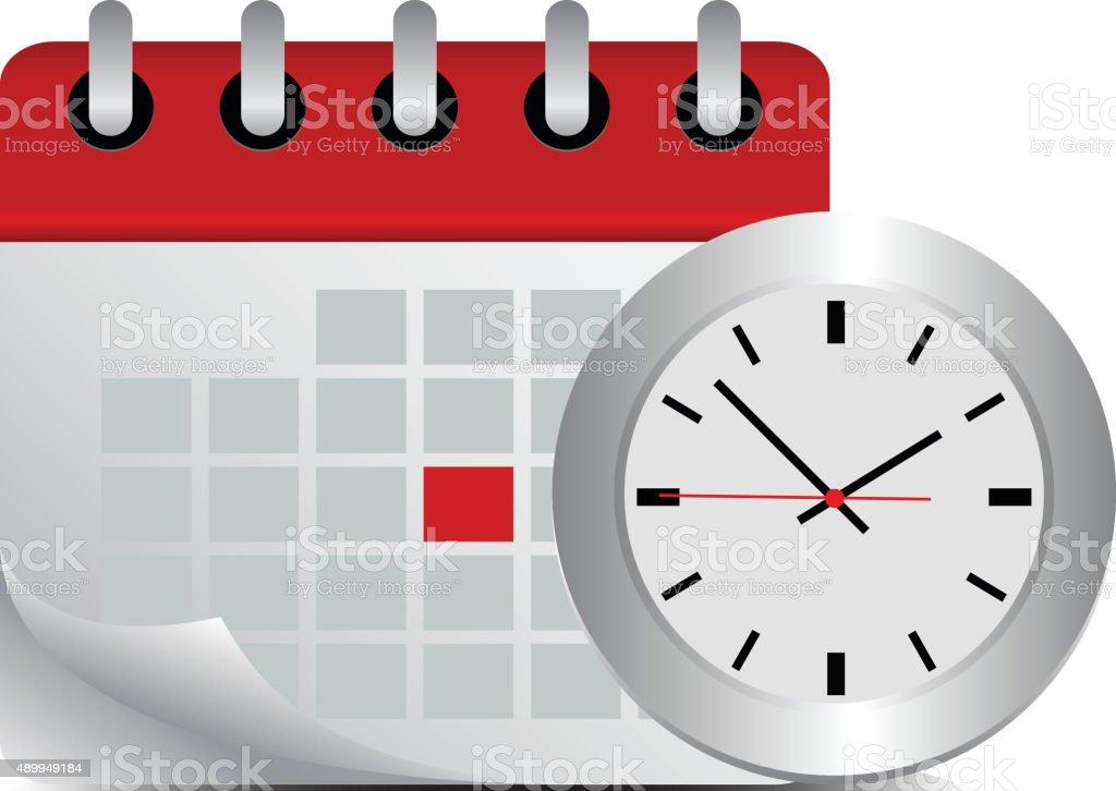 timing concept - Illustration vector art illustration