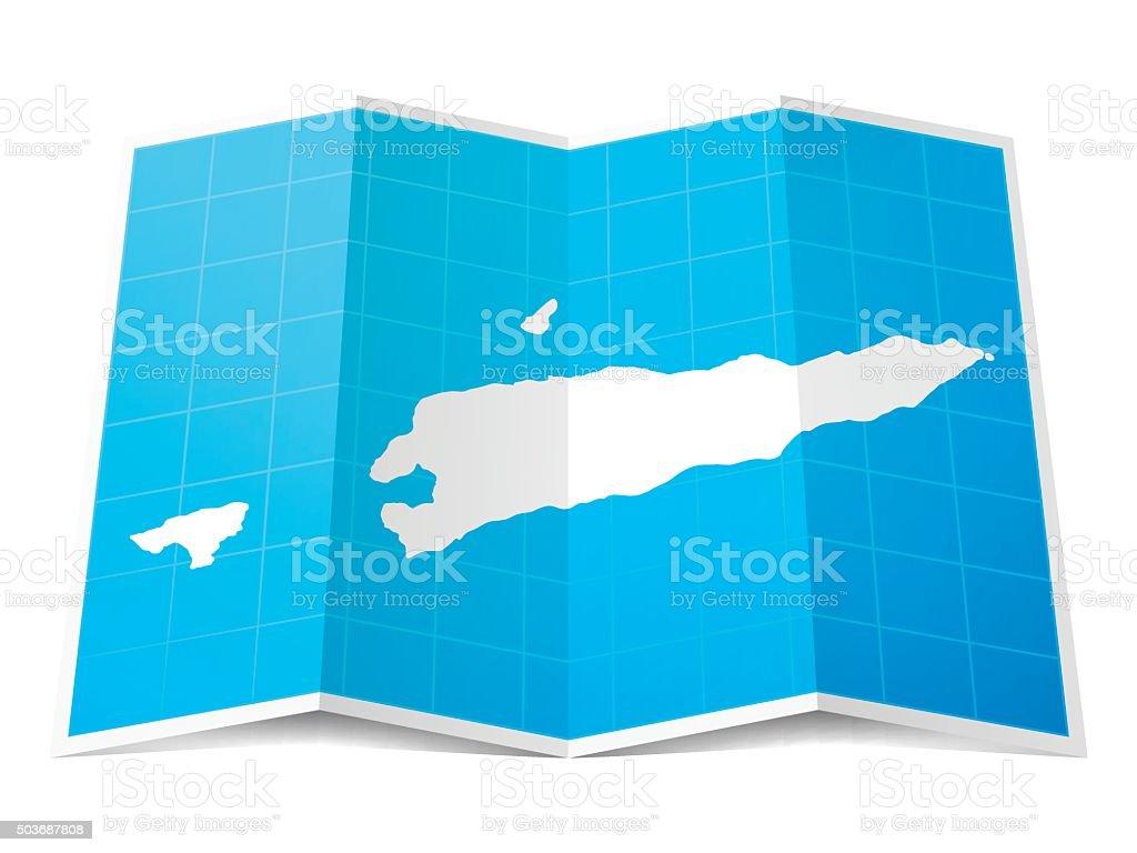Timorleste Map Folded Isolated On White Background Stock Vector - East timor seetimor leste map vector