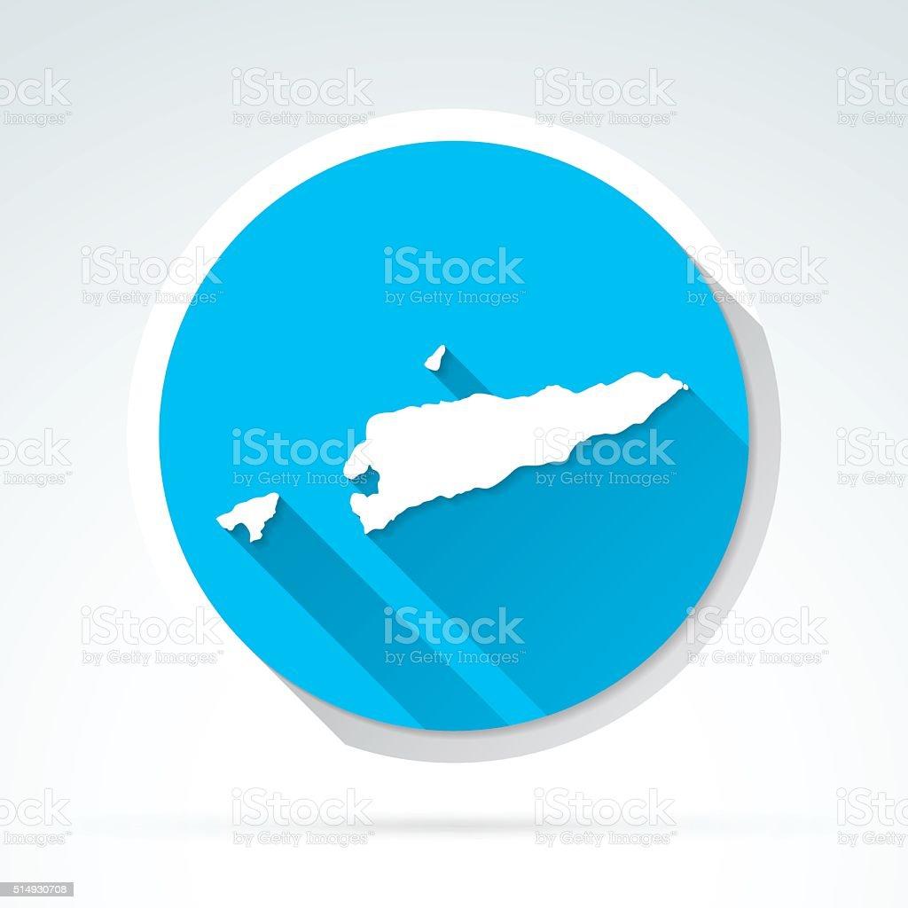 Timorleste Map Icon Flat Design Long Shadow Stock Vector Art - East timor seetimor leste map vector