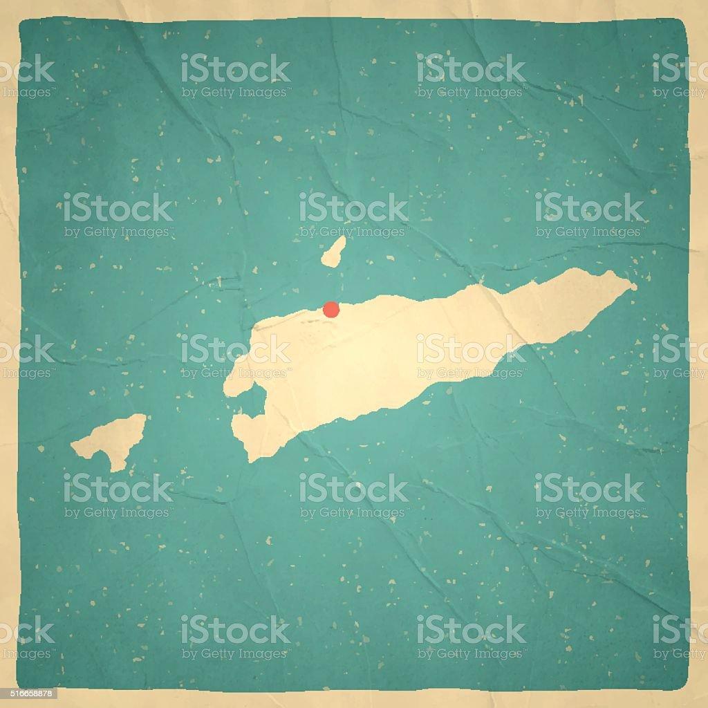 Timorleste Map On Old Paper Vintage Texture Stock Vector Art - East timor seetimor leste map vector