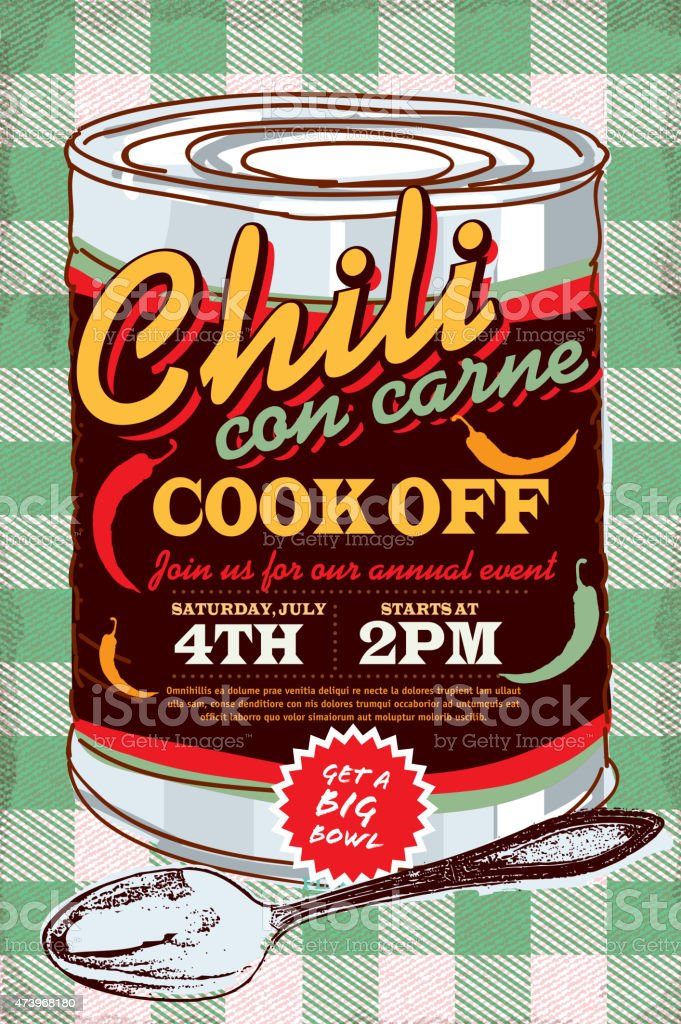 chili cookoff illustrations  royalty