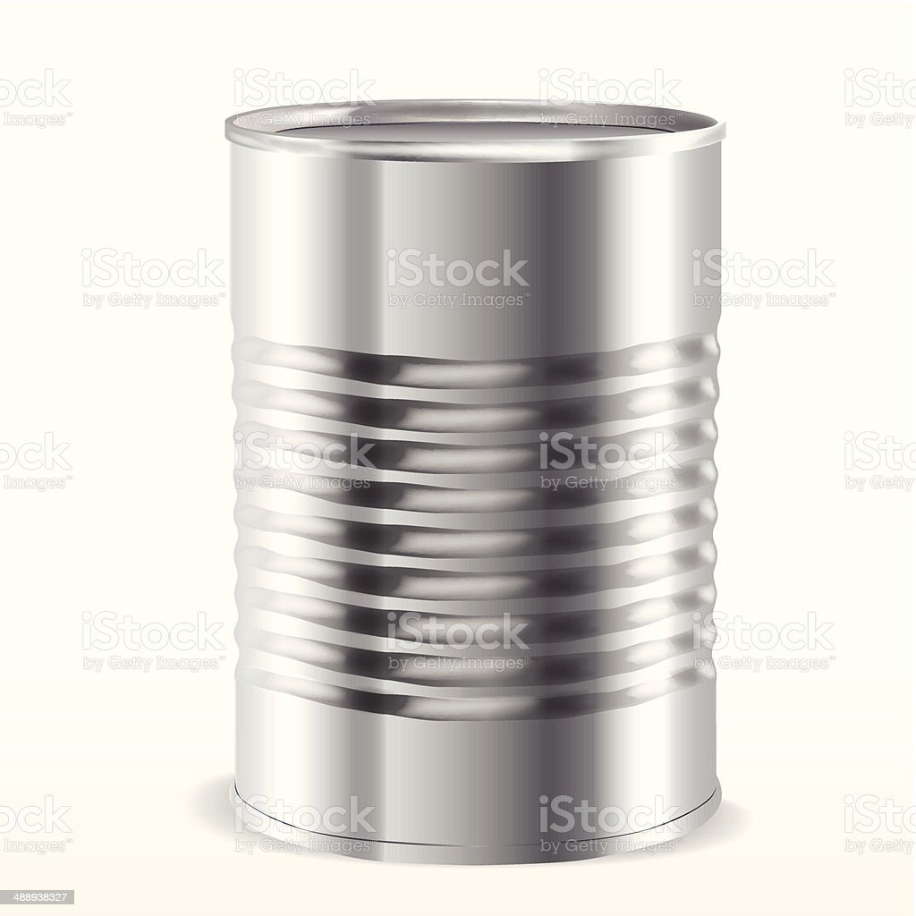Tin can vector art illustration