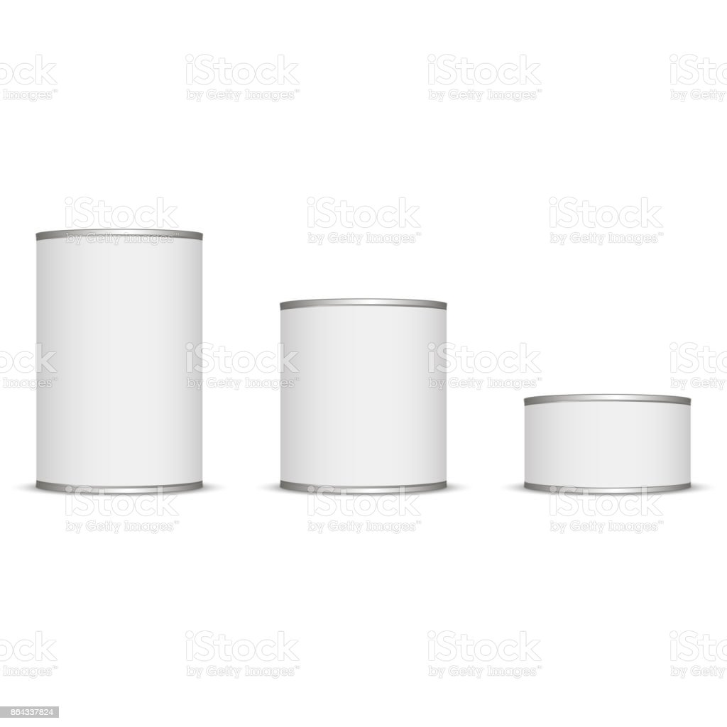 Tin for your design and logo. white color. easy to change any color. vector art illustration
