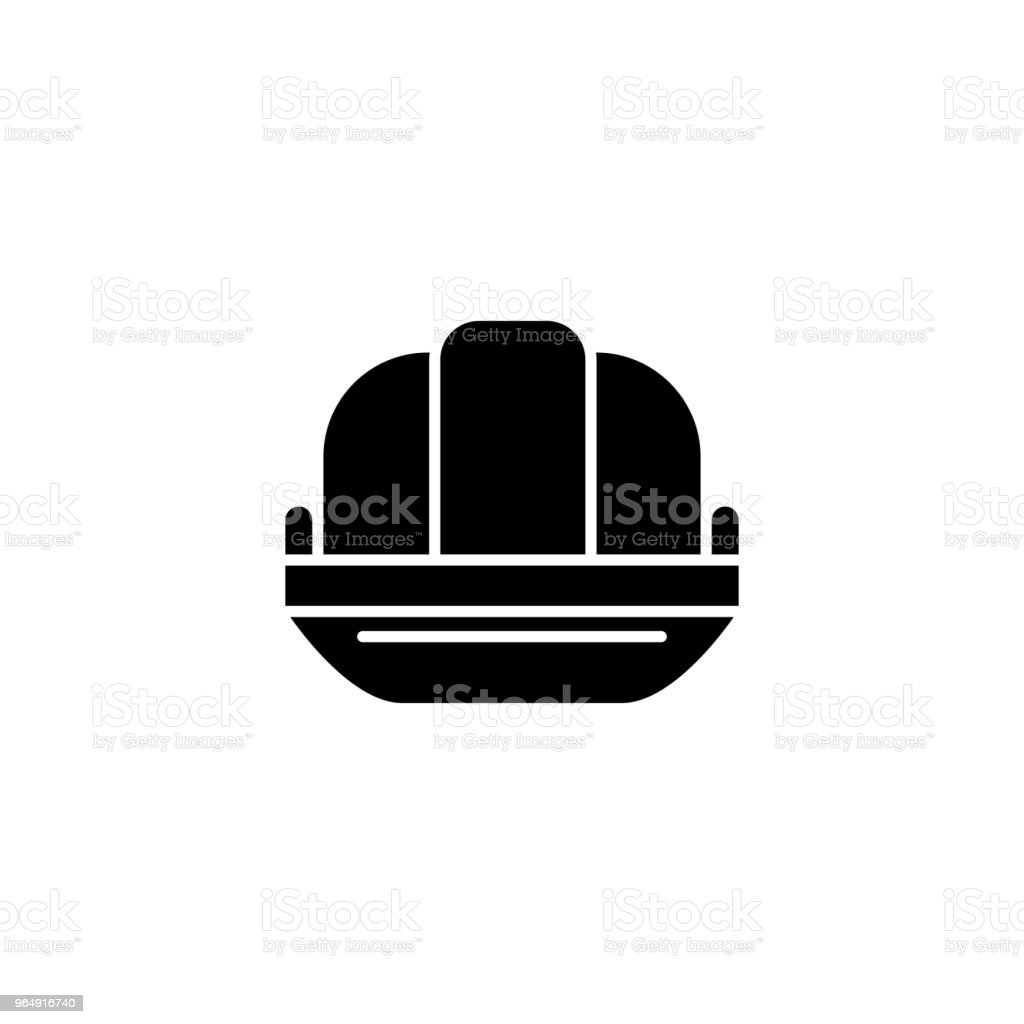 Tin hat black icon concept. Tin hat flat  vector symbol, sign, illustration. royalty-free tin hat black icon concept tin hat flat vector symbol sign illustration stock vector art & more images of aluminum