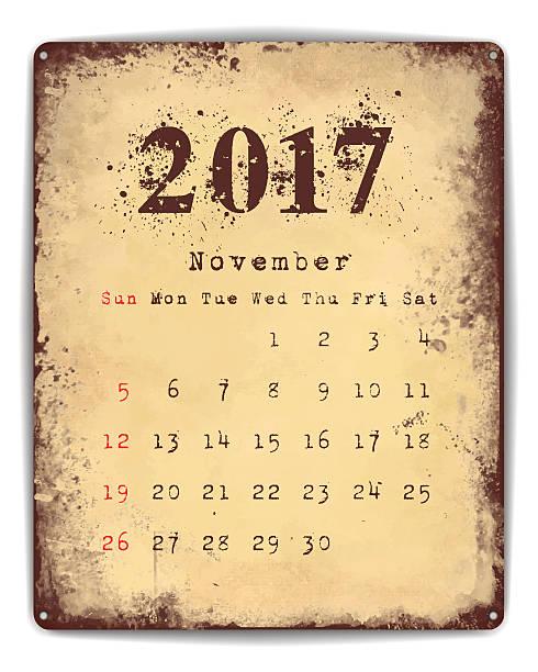 Tin Plate Calendar ベクターアートイラスト