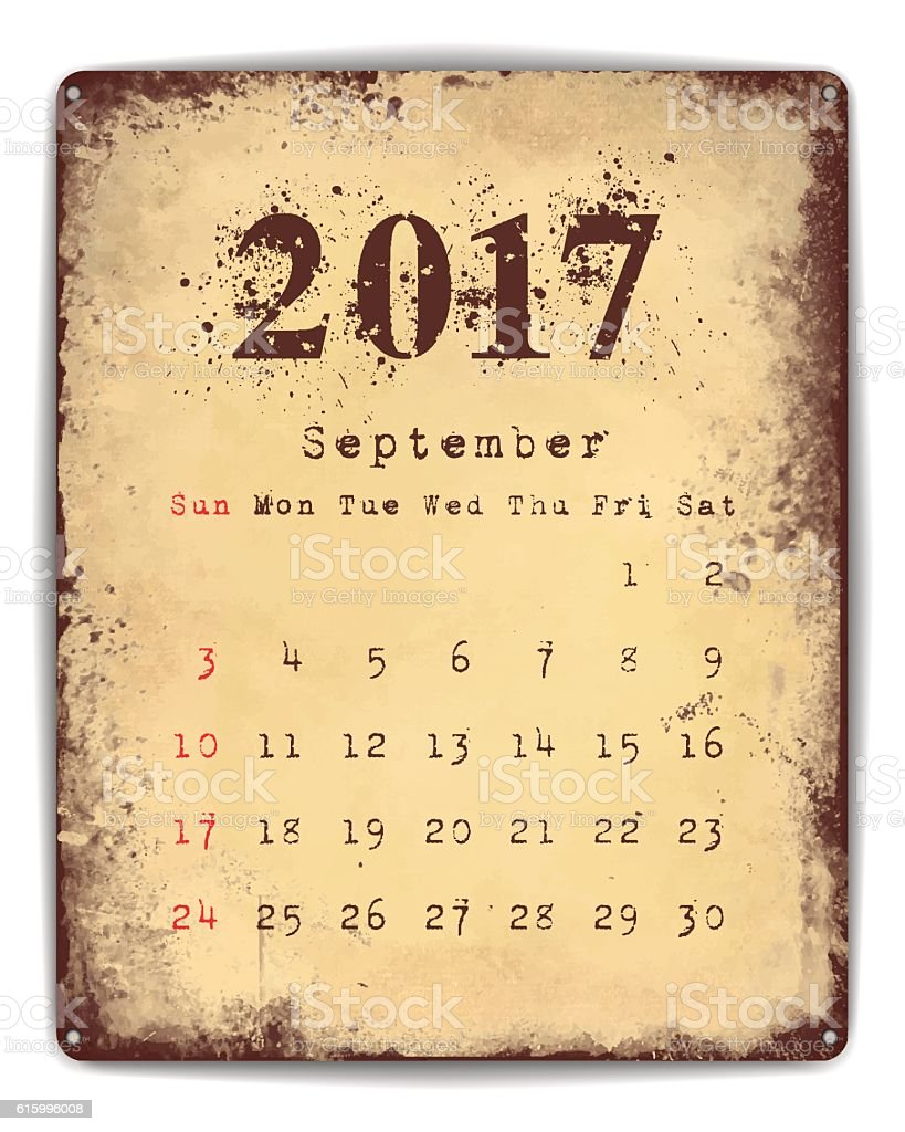 Tin Plate Calendar - Illustration vectorielle