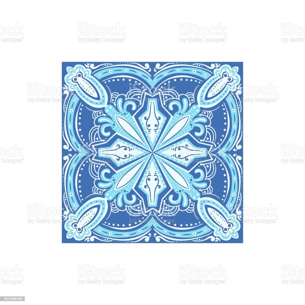 Tin-glazed Azulejo Tile Portuguese Famous Symbol Lizenzfreies tinglazed azulejo tile portuguese famous symbol stock vektor art und mehr bilder von blau
