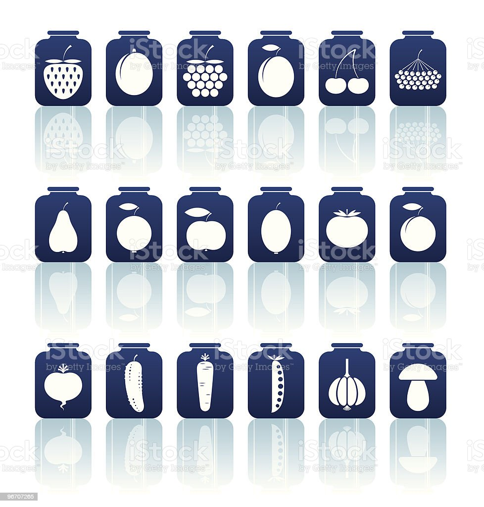 tinned goods icons royalty-free stock vector art