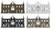 Tintern Abbey in Wales, UK.
