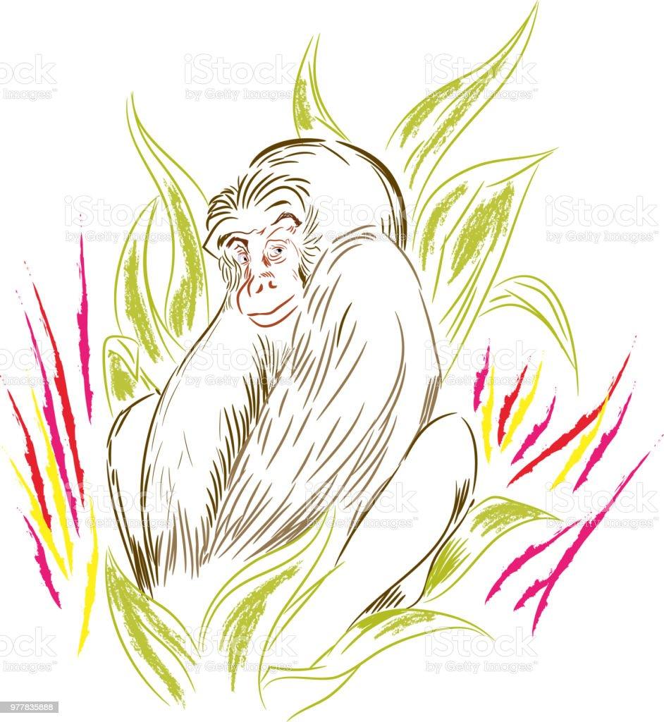 Küçük goril royalty-free küçük goril stok vektör sanatı & abd'nin daha fazla görseli
