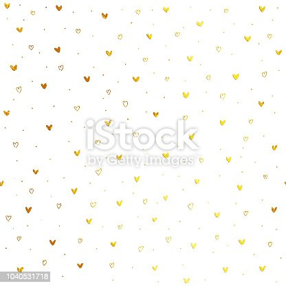 Uneven spontaneously drawn heart shapes across the entire surface of the white paper card. Original and unique love elements design.   Seamless pattern - duplicate it vertically and horizontally to get unlimited area without visible connections. Zoom to see the details! Great material for your design.