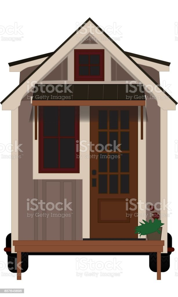 Tiny Home vector art illustration