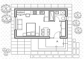 istock Tiny House Architectural Plan Drawing 1218544300