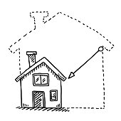 Tiny House Downsizing Concept Drawing