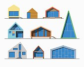 Tiny houses linear 1 color