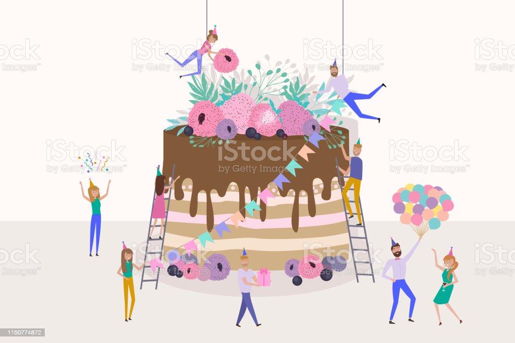 Terrific Tiny People Preparing For And Celebrating Holidays Men And Women Birthday Cards Printable Benkemecafe Filternl