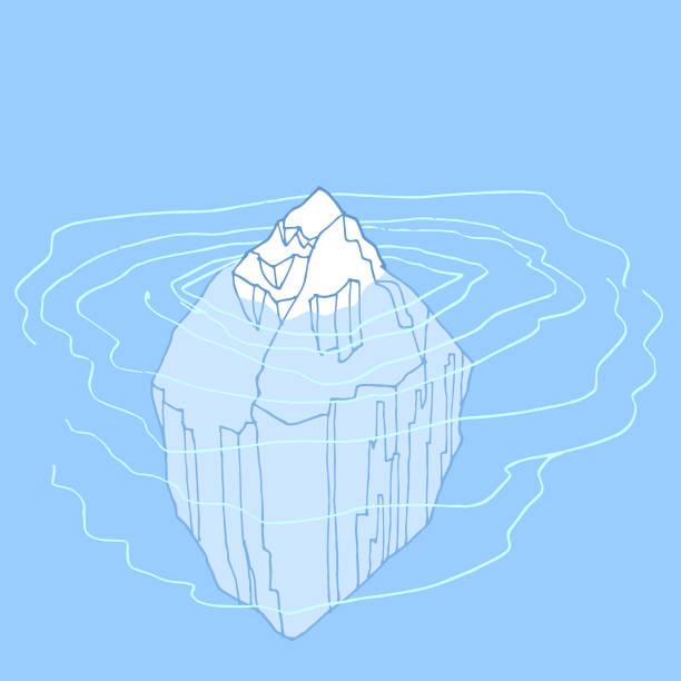 die spitze des eisbergs - eiszeit stock-grafiken, -clipart, -cartoons und -symbole