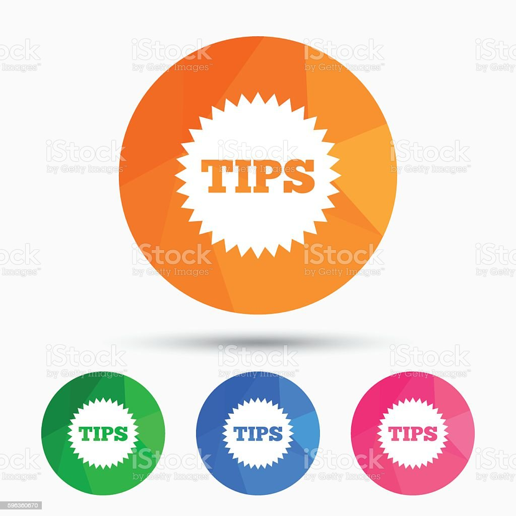 Tips sign icon. Star symbol. royalty-free tips sign icon star symbol stock vector art & more images of badge