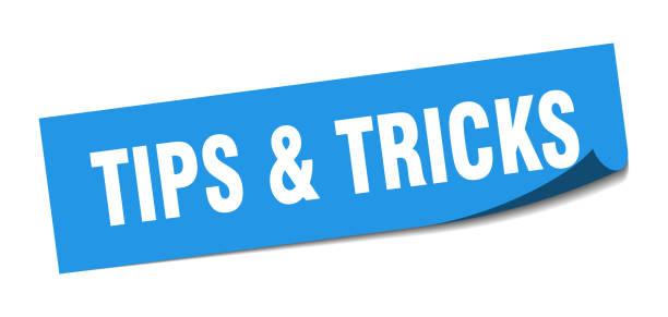 tips & tricks sticker. tips & tricks square isolated sign. tips & tricks tips & tricks sticker. tips & tricks square isolated sign. tips & tricks animal tricks stock illustrations