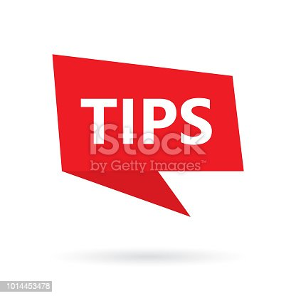 tips word on speach bubble- vector illustration