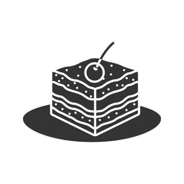 tiramisu-symbol - tiramisu stock-grafiken, -clipart, -cartoons und -symbole