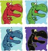 Tiranosaurio Rex en colores