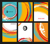 Vector automotive brochure templates set. Grunge tire tracks backgrounds for portrait poster, digital banner, flyer, booklet, leaflet, web design. Editable graphic image in modern edgy colorful style