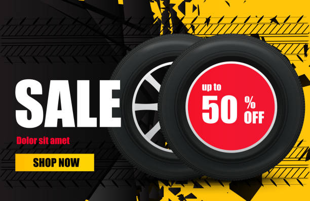 Best Cheap Tires Online Illustrations, Royalty-Free Vector