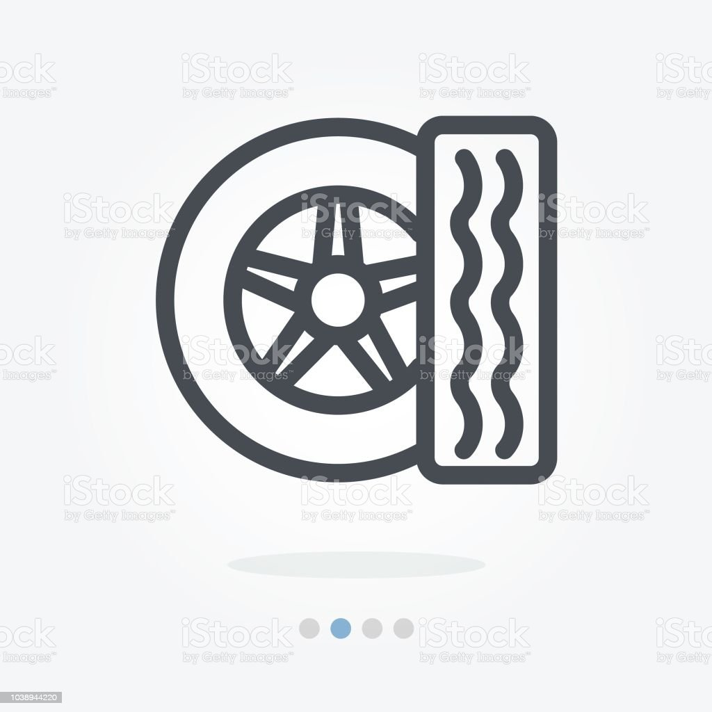 tire car wheel car tyre wheel vector icon vector art illustration