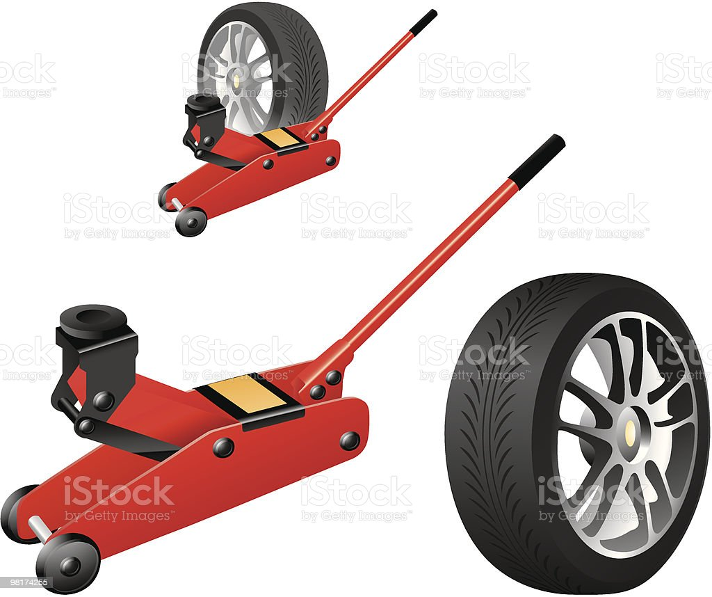 Tire change royalty-free tire change stock vector art & more images of car jack